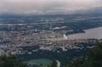 Vue de Genève depuis le Mont-Salève en 1987